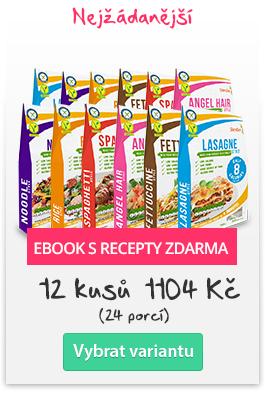 Bio Nízkokalorické Těstoviny Slendier - 12 ks + ebook s recepty zdarma