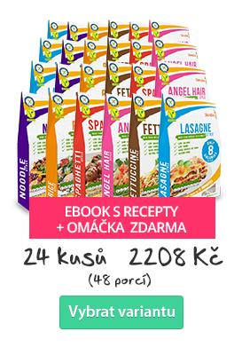 Bio Nízkokalorické Těstoviny Slendier - 24 ks + ebook s recepty a omáčkou zdarma