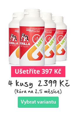 GORILLA METBURN - spalovač tuků 4 ks - ušetřete s množstevní slevou